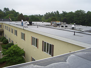 commercial rubber roof project