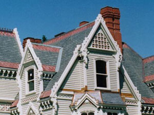 Victorian Home Roof with high peaks
