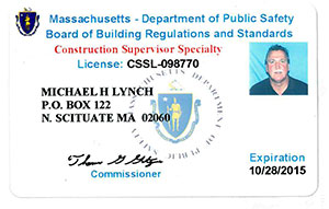 MA Construction Supervisor License - Associate Roofing