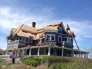 Martha's Vineyard Residential Roof Under Construction