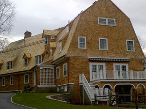 Cedar residential roof