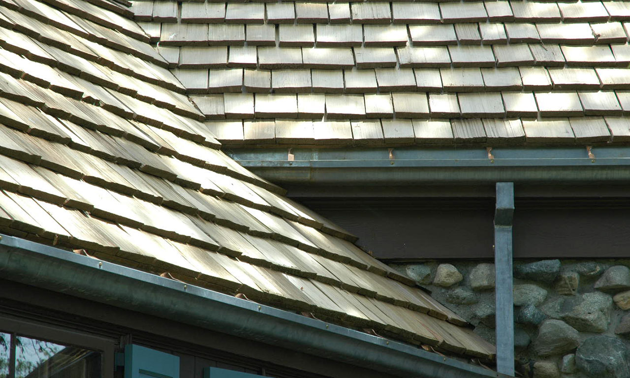 new cedar shingle roof
